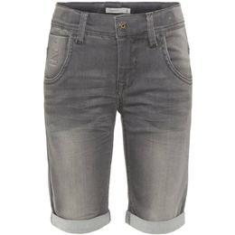 Name It Kid's X-slim Fit Super Stretch Denim Shorts - Grey/Medium Grey Denim (13160526)