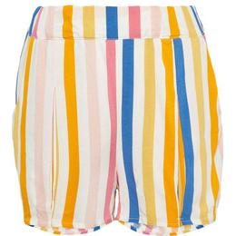 Name It Kid's Multi Striped Shorts - White/Bright White (13164693)