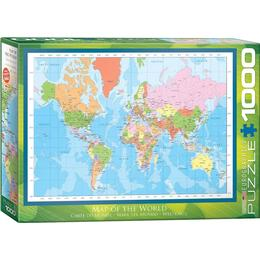 Eurographics Modern Map of the World 1000 Pieces