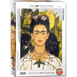 Eurographics Self Portrait with Thorn Necklace & Hummingbird 1000 Pieces