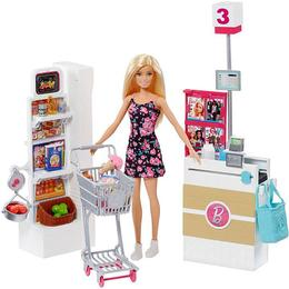 Barbie Doll & Supermarket Playset FRP01