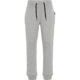 Name It Kid's Brushed Sweat Pants - Grey/Grey Melange (13153665)