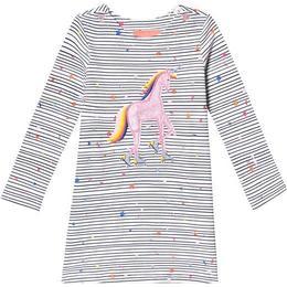 Tom Joule Kaye Jersey Applique Dress - Navy Stripe Unicorn (201406)
