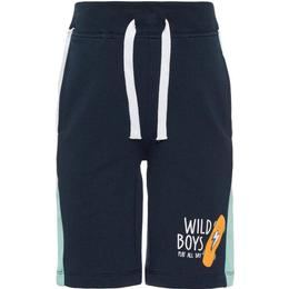 Name It Mini Printed Sweat Shorts - Blue/Dark Sapphire (13165939)