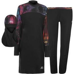 Slazenger Burkini 3 Piece Suit - Black/Red