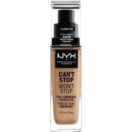 NYX Can't Stop Won't Stop Full Coverage Foundation CSWSF12 Classic Tan