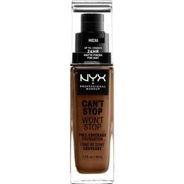 NYX Can't Stop Won't Stop Full Coverage Foundation CSWSF19 Mocha