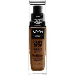 NYX Can't Stop Won't Stop Full Coverage Foundation CSWSF17.5 Sienna