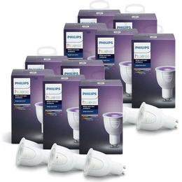 Philips Hue White and Color Ambience LED Lamps 6.5W GU10 10-pack