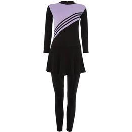 Shorso Modest Swimsuit Burkini - Black/Pink