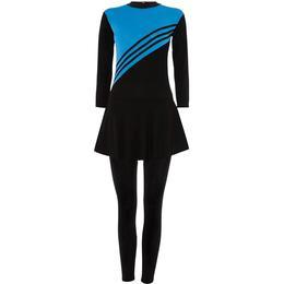Shorso Modest Swimsuit Burkini - Black/Blue
