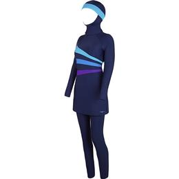 Zoggs Meelup Full Coverage Modesty Suit Burkini - Navy
