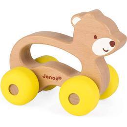 Janod Babypop Push Along Bear