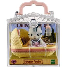 Sylvanian Families Baby Carry Case Cat in Cradle