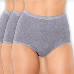 Sloggi Basic+ Maxi High Waist Knickers 3-pack - Grey Combination