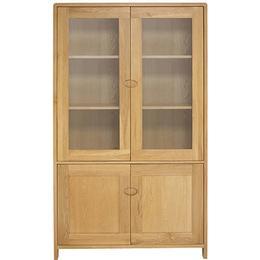 Ercol Bosco 190cm Glass Cabinet