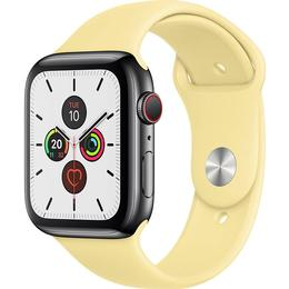 Apple Watch Series 5 Cellular 44mm Stainless Steel Case with Sport Band