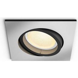 Philips Centura Square Silver Ceiling Flush Light