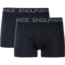 Endurance Brighton Bamboo Boxer Shorts 2-pack - Black