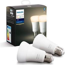 Philips Hue White LED Lamps 9W E27 2-pack