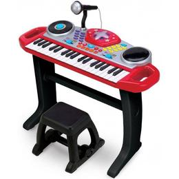 Big Steps Rockstar Keyboard Toys with Microphone & Stool