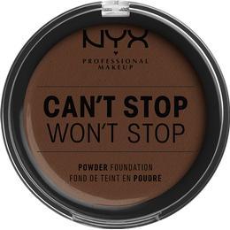 NYX Can't Stop Won't Stop Powder Foundation Deep Walnut