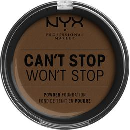 NYX Can't Stop Won't Stop Powder Foundation Walnut