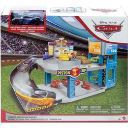 Mattel Disney Pixar Cars Florida 500 Racing Garage Playset