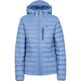Trespass Arabel W Hooded Down Packaway Jacket - Denim Blue