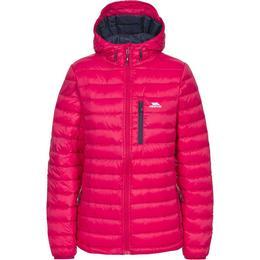 Trespass Arabel W Hooded Down Packaway Jacket - Raspberry