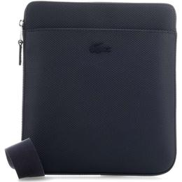 Lacoste Chantaco Matte Leather Flat Zip Bag - Peacoat