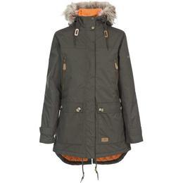 Trespass Clea Waterproof Parka Jacket - Dark Khaki