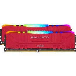Crucial Ballistix Red RGB LED DDR4 3200MHz 2x16GB (BL2K16G32C16U4RL)