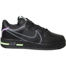Nike Air Force 1 React GS - Black/Violet Star/Barely Volt/Anthracite