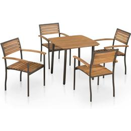 vidaXL 44230 Dining Group, 1 Table inkcl. 4 Chairs
