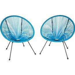tectake Gabriella 2-pack Basket Chair