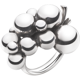 Georg Jensen Moonlight Grapes Large Ring - Silver