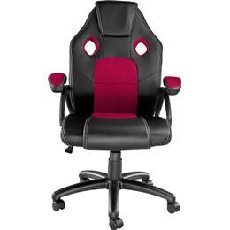 tectake Mike Gaming Chair - Black/Burgundy