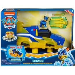 Spin Master Paw Patrol Mighty Pups Charged Up Chase's Charged Up Deluxe Vehicle