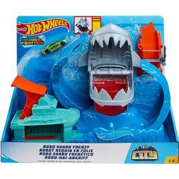 Hot Wheels City Color Shifter Shark Jump Play Set