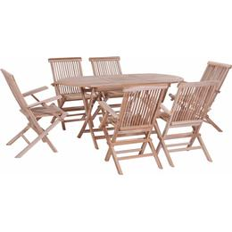 vidaXL 44659 Dining Group, 1 Table inkcl. 6 Chairs