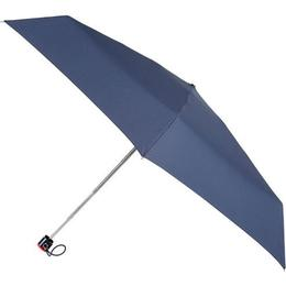 Totes Compact Flat Umbrella Plain Navy