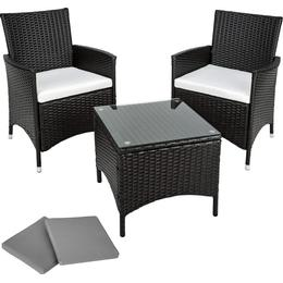 tectake Athens Lounge Group, 1 Table inkcl. 2 Chairs