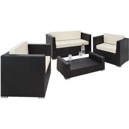 tectake Munich Lounge Group, 1 Table inkcl. 2 Chairs