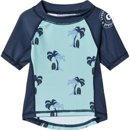 Geggamoja Palmbeach UV Short Sleeved Sweather - Blue (99720122)