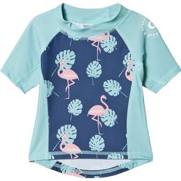 Geggamoja Flamingo UV Short Sleeved Sweather - Blue (99720121)
