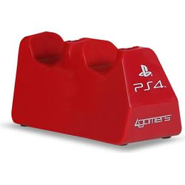 4gamers Playstation 4 Dual Charge 'n' Stand - Red