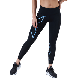 2Xu Mid-Rise Compression Tights Women - Black/Blue