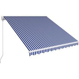 vidaXL Manual Retractable Awning 300x250cm