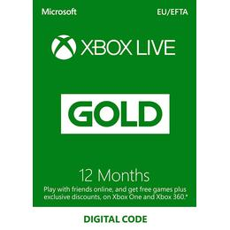Microsoft Xbox Live - 12 months